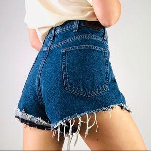 [Vintage] LL BEAN High Waist Cut Off Denim Shorts